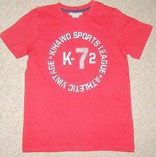 niño en azul o Rojo Camiseta con Imprimir Al Frente Edad 8 , 10 OR 12 años