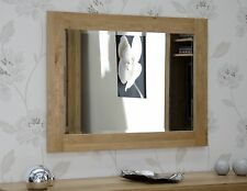 Windsor Solid Oak Furniture Bedroom Hallway Bevelled Glass Wall Mirror