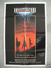 HALLOWEEN 3 III 1982 ORIGINAL MOVIE POSTER SEASON OF THE WITCH MASKS AUTOGRAPHED