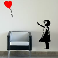 Banksy Girl Large Vinyl Transfer / Giant Removable Wall Sticker RA133