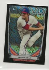 Aaron Nola 2014 Bowman Chrome Mini Set Black Refractor Shimmer RC #294 Phillies