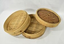 EUC Bamboo Steamer Set with 2 Steamer bodies & 1 Cover.