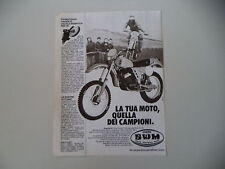 advertising Pubblicità 1981 MOTO SWM RS GS TF1