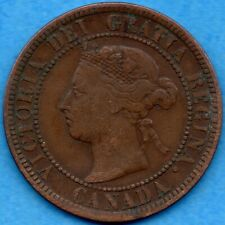 Canada 1888 1 Cent One Large Cent Coin - Fine