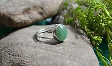 GREEN AVENTURINE NATURAL 925 STERLING SILVER RING SIZE 5 WITH GIFT BAG