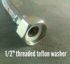 """1/2"""" PTFE Teflon flat Washer Gasket seal food grade high temp 5 pieces"""