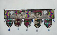 VINTAGE DOOR VALANCES INDIAN TORAN WALL HANGING EMBROIDERED PATCH  TAPESTRY VC33