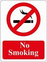 No Smoking Area Notice/sign Brushed Aluminium A5 Size Sign/Plaque.