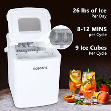 Portable Ice Maker Machine Countertop 26Lbs/24H S 00006000 elf-cleaning w/ Scoop Usa
