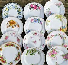 Vintage Mismatched China Side / Tea / Bread Plates Job Lot Wedding Bulk Crockery