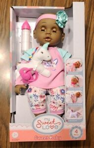 "My Sweet Love Baby Doll Unicorn Berenguer Walmart Exclusive, 14"" Doll, 4 Pieces"