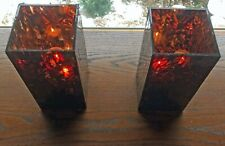 Pair of Vintage PartyLite Global Ambiance Tealight Trees ~ Retired P9864 w boxes