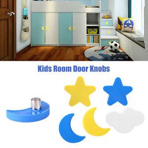 KIDS Childrens Door Knobs Star Moon Handles Cupboard Drawer Cabinet
