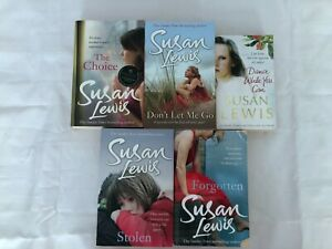 5x Susan Lewis Books Dance While You Can The Choice Stolen Forgotten Don't Let