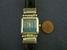 #222 ladys sterling silver turquoise face ECCLISSI watch