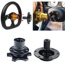 Black Quick Release/Snap Off Steering Wheel Boss/Hub Race/Rally/Motorsport/Track