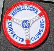 """CORVETTE EMBROIDERED SEW ON PATCH NATIONAL COUNCIL CORVETTE CLUB MUSCLE CAR  3"""""""