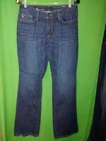 2102) EDDIE BAUER 8 Curvy Bootcut denim w/stretch jeans mid rise 8