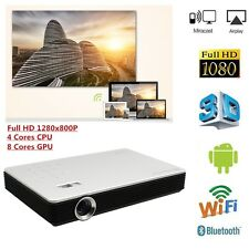 Full HD 1080p 3D Ready DLP Projector 7100 Lumens Wifi Video Home Theater Cinema