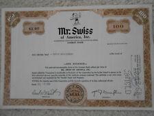 USA alte Aktie Mr .Swiss