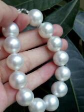 """huge 7.5-8""""12-13mm south sea round white pearl bracelet"""