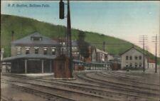 Bellows Falls VT RR Train Station NICE COLOR c1910 Postcard