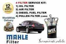 FOR VOLKSWAGEN VW PASSAT 2.5TDi 2000-2005 SERVICE SET OIL AIR FUEL POLLEN FILTER