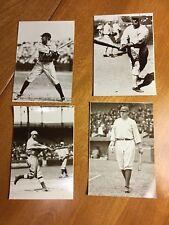 1978 BASEBALL PHOTO POSTCARDS, Roger Hornsby, Babe Ruth, Shoeless Joe & Ty Cobb