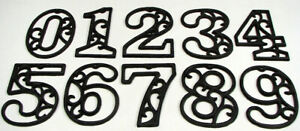 "Cast Iron House Street Address Numbers Rustic Craft Indoor Outdoor Decor 4-5/8""H"
