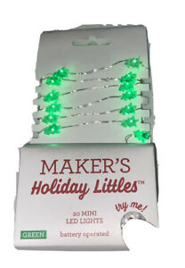 MAKER'S HOLIDAY LITTLES 20 mini LED lights silver wire 4.20ft