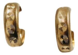 9ct Large Hoop Earrings 5.38g Yellow Gold