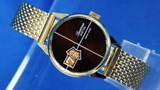 Vintage NOS Lucerna mecánico salto de hora digital Reloj 1970 Suiza