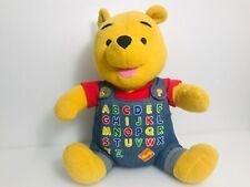 Disney Winnie The Pooh Plush Stuffed Bear Alphabet Talking Toy