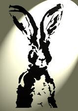 Shabby Chic Stencil Artistic Hare faceRabbit Rustic A4 297x210mm wall DesA