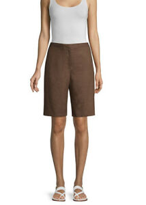 Eileen Fisher Organic Linen Cocoa Walking Short Size 12