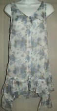 Altar'd State Womens Tunic Size Medium Chiffon Blouse Semi Sheer Bohemian Boho
