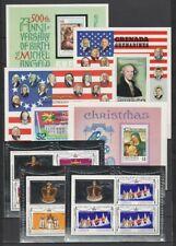 Grenada Grenadines 1975 - 1986 4 Pages MNH Souvenir / Miniature Sheets $99.60