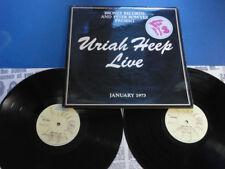 URIAH HEEP LIVE Bronze 73 A2B2 Laminated Gatefold 2xLP EX/EX/EX+