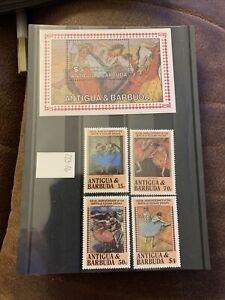 Antigua & Barbuda Stamps 150th Anniversary Of The Birth Of Edgar Degas SG 883-86