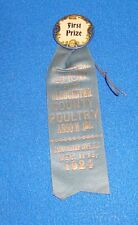 Vintage 1924 Gloucester County New Jersey First Prize County Fair Ribbon