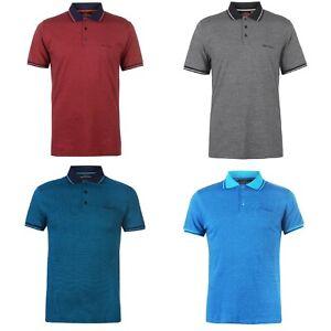 Pierre Cardin Pin Stripe Jersey Polo Shirt T-Shirt Red Charcoal S M L XL XXL