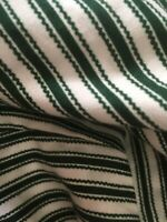 Longaberger Basket SWEETHEART Medium Gathering  Ticking Stripe Green Liner Only