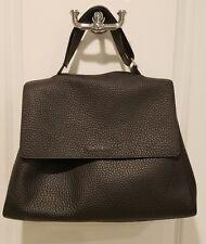 Orciani Italian Leather Handbag, Black, Sveva, EXCELLENT, Retail $618