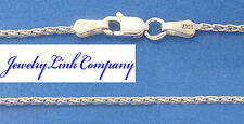 "14K White Gold Diamond Cut Wheat 1.4mm Chain 16"" B-040 4.2grams"