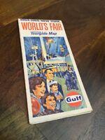 Vintge 1964-65 New York World's Fair Gulf Oil Tourguide Map