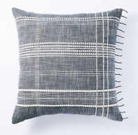 NWT Studio McGee X Threshold Woven Plaid Square Pillow Blue/White NEW Target
