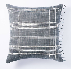 NWT Studio McGee X Threshold Woven Plaid Square Pillow Blue/White NEW Target