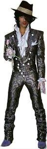 "Prince-Gray Metallic Paisley w Hat - 68"" Tall Life Size Cardboard Cutout Standee"