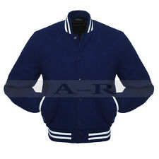 Melton Wool Varsity Jacket Wool Blend Collage Baseball Full Jacket Of Wool