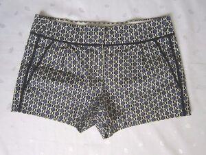 "J. CREW Women's Printed Blue Black White 2.5"" Short Shorts ~ Size 2 ~ Worn Once!"